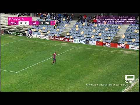 DIRECTO: Fútbol 2ªB. Pontevedra CF - CF Talavera. Castilla - La Mancha Media.