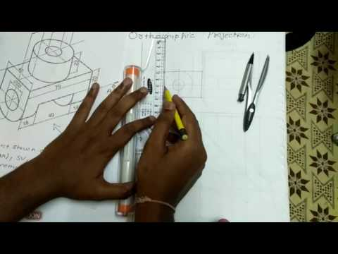 Sectional Orthographic Projection [Hindi]