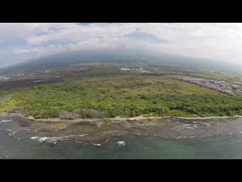 Drone Scenic Aerial View of Kaloko-Honokōhau National Historical Park