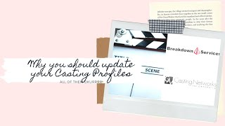 Why? You should update your casting profiles!
