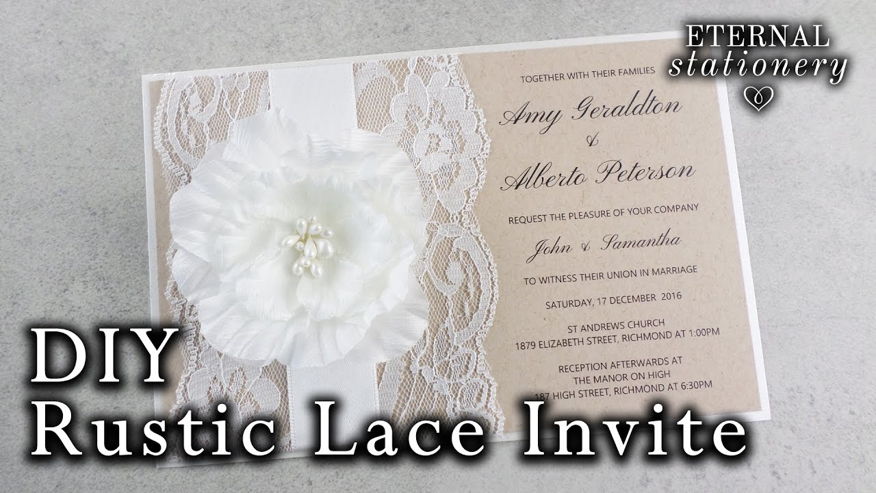 How to make a rustic wedding invitation DIY invitations YouTube