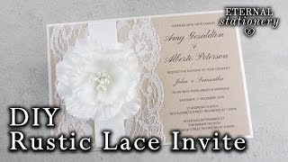 How to make a rustic wedding invitation | DIY invitations