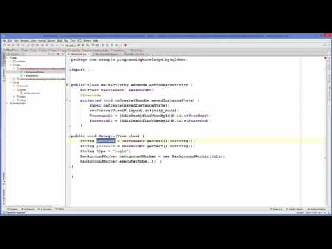 Android MySQL Database Tutorial 2   Android Login with PHP MySQL   YouTube