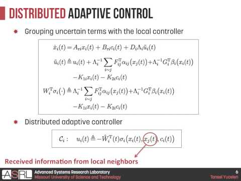Adaptive Architectures for Distributed Control of Large Scale Modular Systems