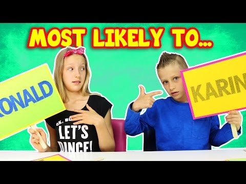 Thumbnail: Most Likely to... Sister vs Brother