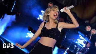 Taylor Swift Live Vocal Range (C3 - A5)