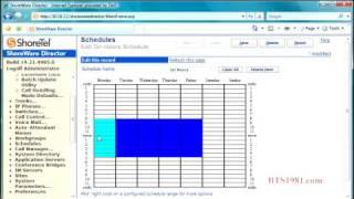 Administration Schedules Shoreware Director