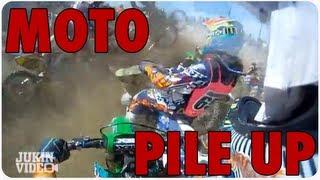 Motorcycle Pile Up | Helmet Cam Footage