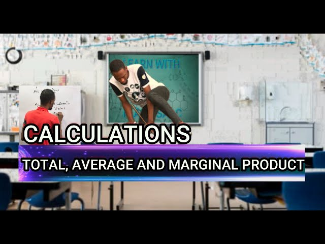 TP, AP And Marginal Product (MP) Calculations