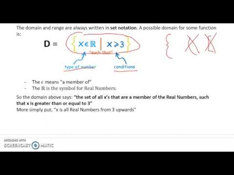 Domain and Range and Real Numbers (Partial 1.4)