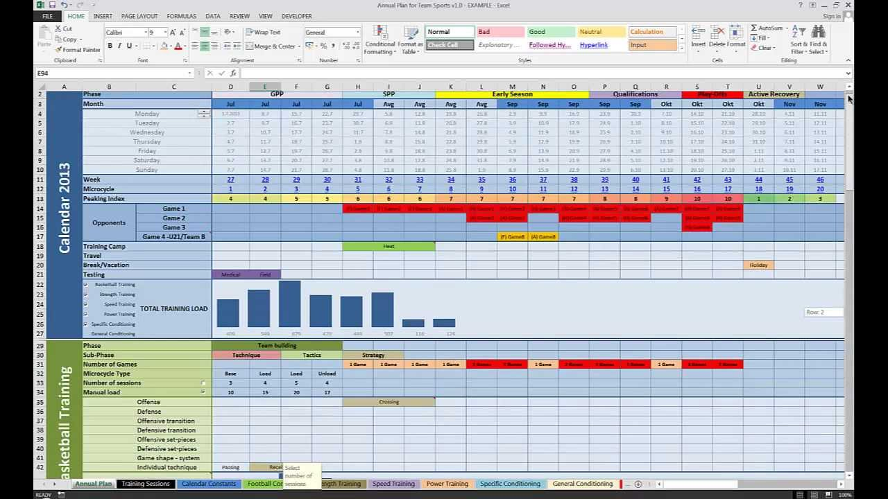 Annual Plan for Team Sports v1 0 | Train The Trainer
