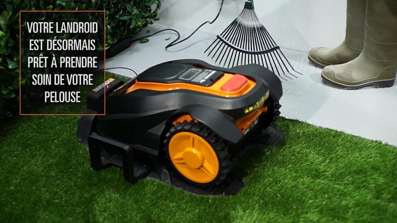 Worx Landroid M L Tondeuse Automatique Installation Francais Www Worxlandroid Com Youtube