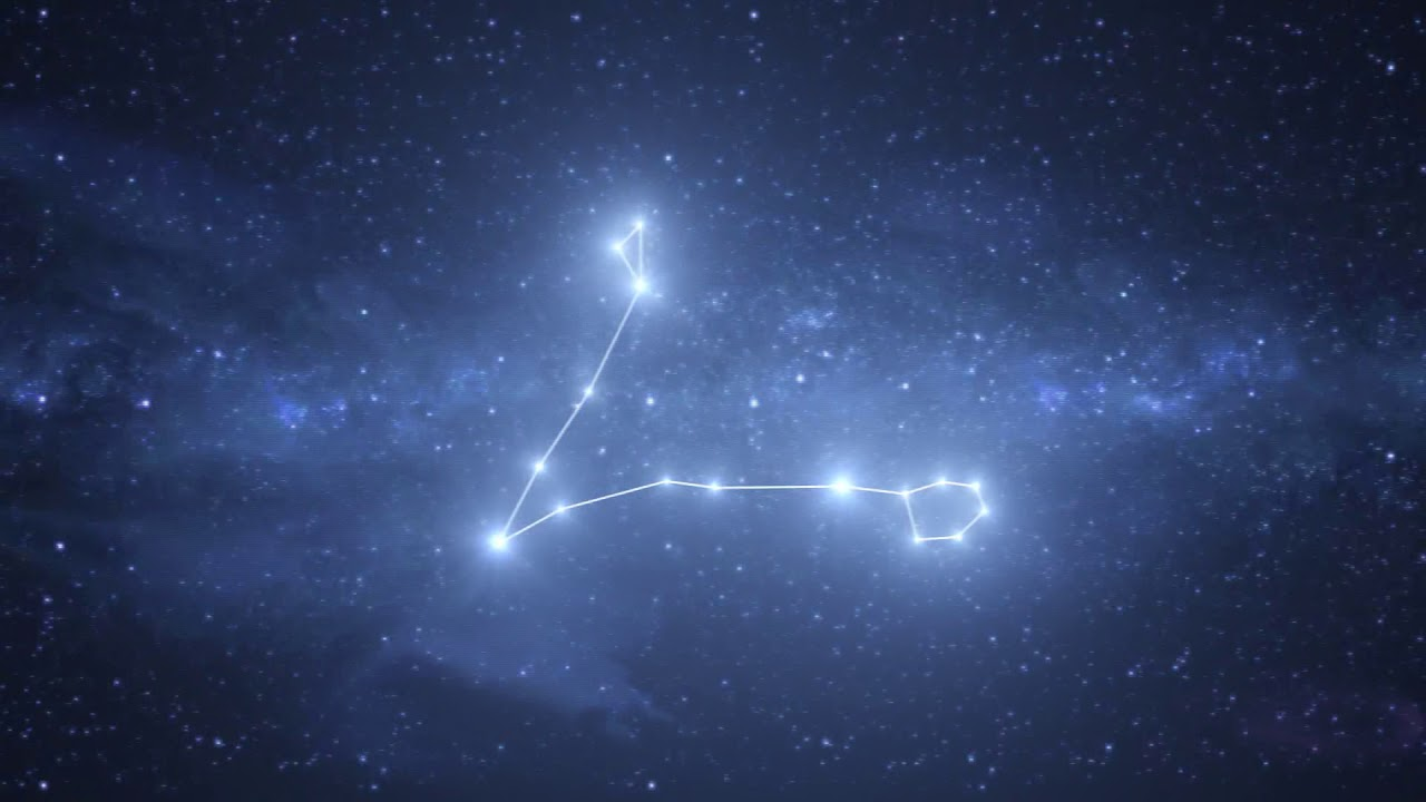 Pisces Constellation / Zodiac - Free motion graphics - YouTube