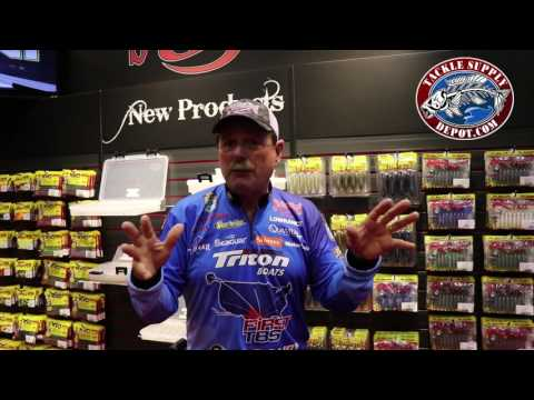 Strike King NEW Rage Tail Swimmer size with Shaw Grigsby at ICAST 2017