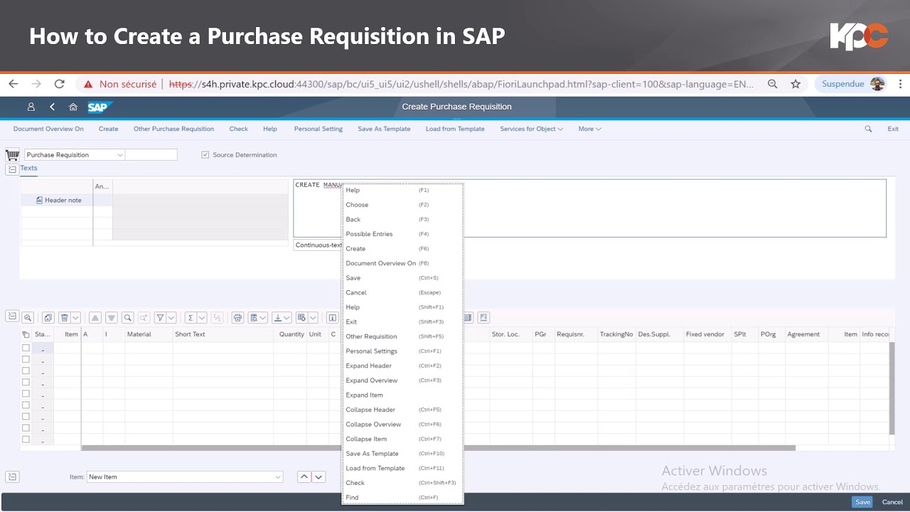 Fiori Youtube Sap.Gu Sap Fiori How To Create A Purchase Requisition In Sap Youtube