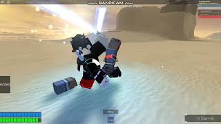 this kid claimed to 11-0 me, ROBLOX (Lightsaber Battles II) Gameplay (part 2)