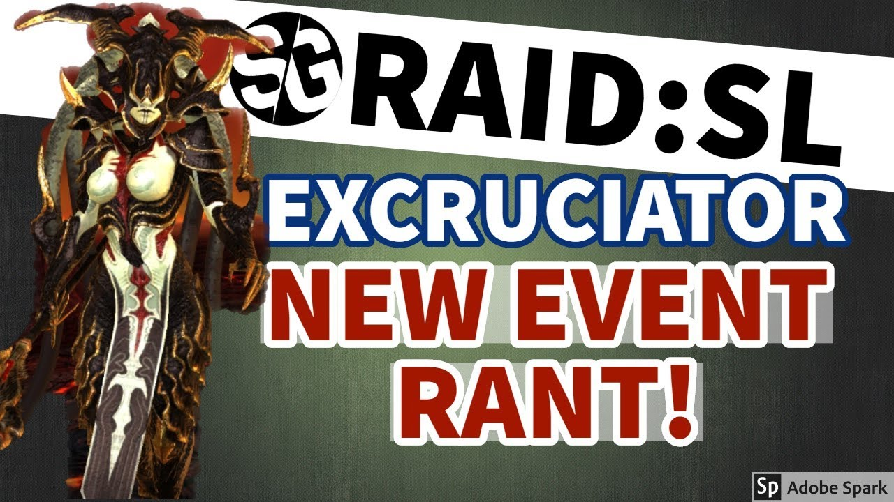 [RAID SHADOW LEGENDS] NEW EVENT RANT & EXCRUCIATOR (NEW CHAMP)