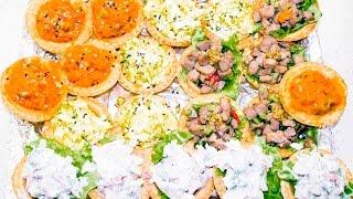 Быстрые закуски в тарталетках на праздничный стол