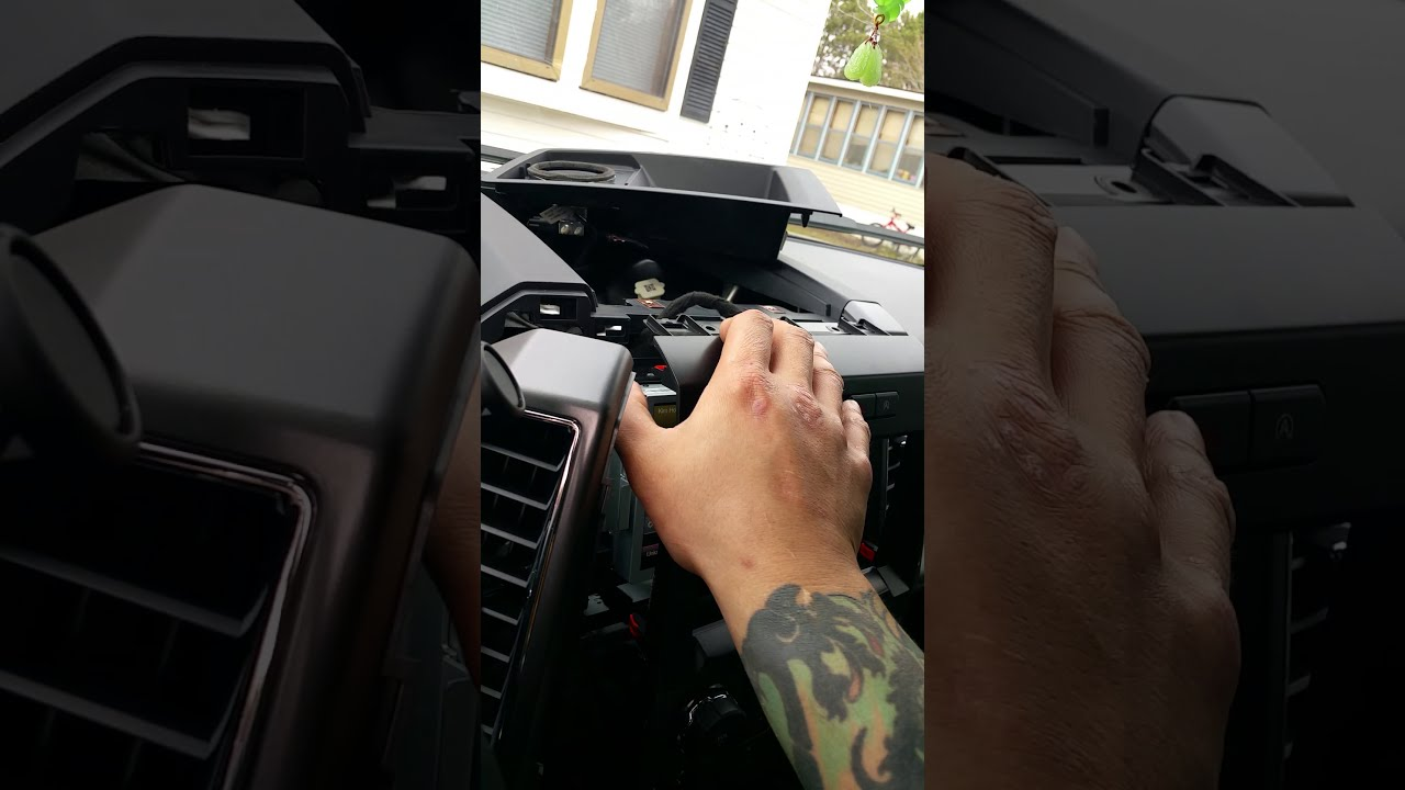 installing brake controller with out center console arm rest for 2015 f150 [ 1280 x 720 Pixel ]