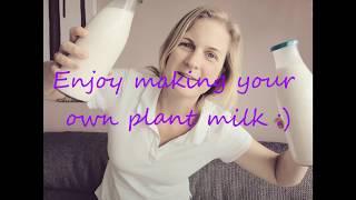 Plant based milk | Homemade | SOS Free | Vegan