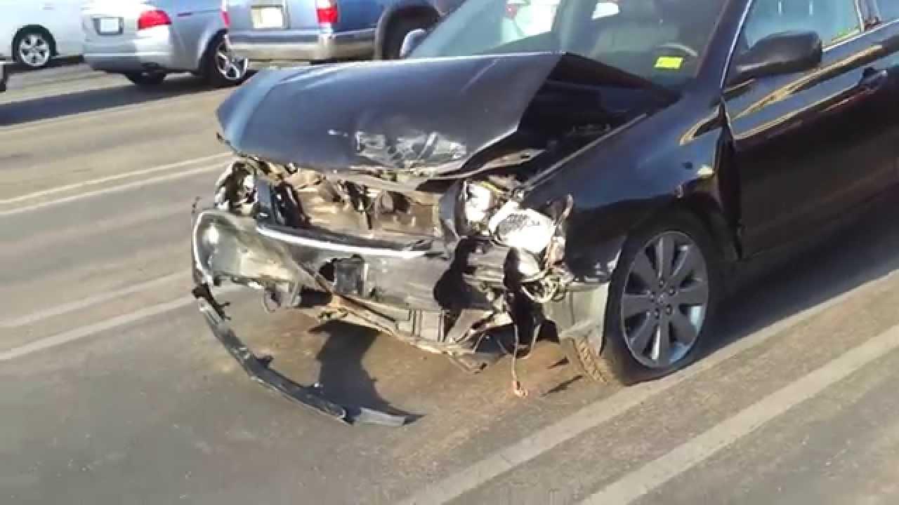 Bad Front End Crash Totaled Camry