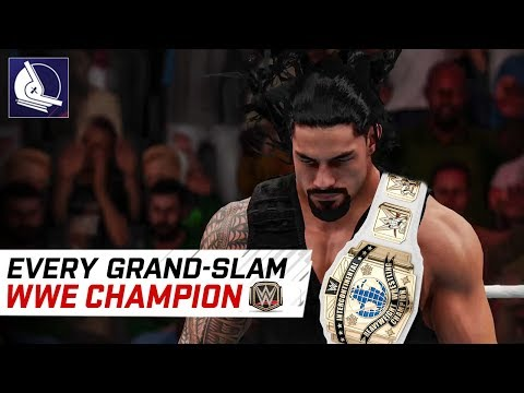 Every WWE grand slam champion in 2K18 (1996 - 2017)