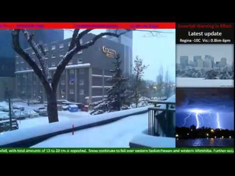 Regina Snow Storm Time-lapse ♪♫ 36 hours over 4 days
