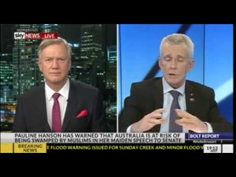 One Nation Senator Malcolm Roberts on the Bolt Report discusses his maiden Senate speech