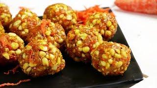 Carrot Peanut Ladoo Recipe  Groundnut Laddu  Shengdana Ladoo Village Travel Food