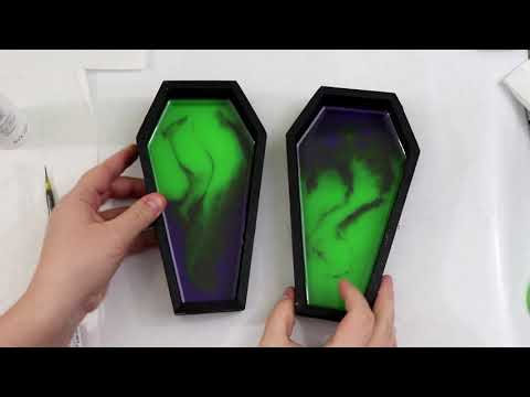 (189) Epoxy Resin Coffins, DIY Halloween Decorations