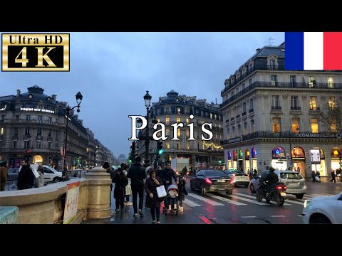 🇫🇷🎄Paris Walk - Place de l'Opéra(Opera square) in 9th arrondissement - 【4K 60fps】