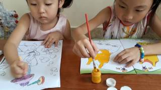 Coloring Pages Dresses For Kids  How to Coloring For Girls Bé Tô Váy Đầm Đỏ và Váy Đầm Cam