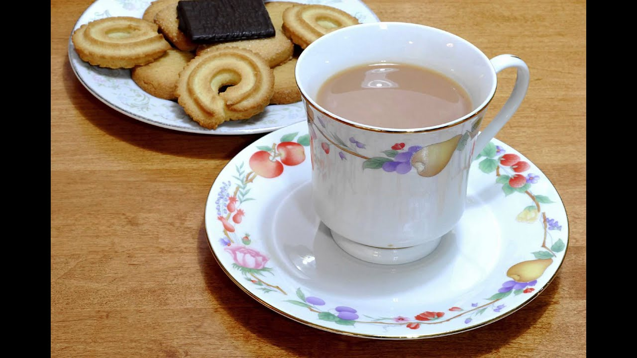 & Tea in Cup with Saucer and Cookie Plate - Free Photos And Art - YouTube