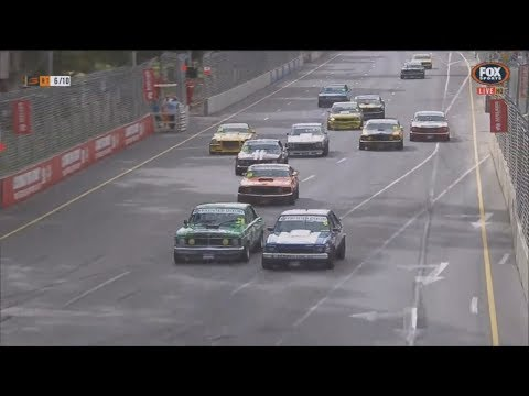 Touring Car Masters 2018. Race 1 Adelaide Street Circuit. Last Laps Battle for Win