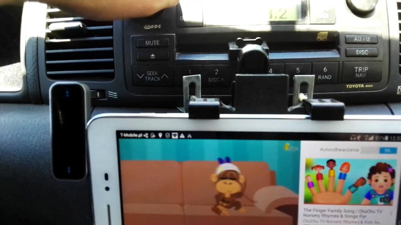 Świeże Transmiter fm do samochodu podłączony przez telefon. - YouTube XZ33