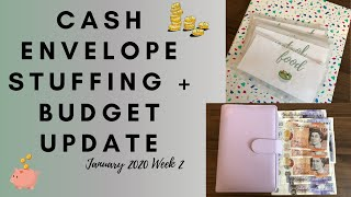 Cash Envelope Stuffing + Budget Update | January 2020 Week 2 | Cash Envelope System UK