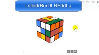Google Doodle Rubik's Cube Solution - Fast Solve With Keyboard Shortcuts - Link In Description