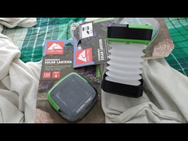 Ozark Trail Expandable Solar Lantern and Power Bank 125 Lumens Camping Hunting