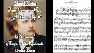 EDVARD GRIEG - Piano Concerto No. 1 in A Minor, Op. 16 - The Treatise of a Piano!