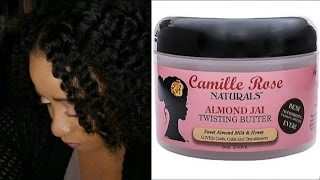Flat Twist With Camille Rose Natural Almond Jai Twisting Butter