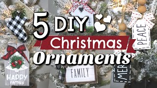 5 DIY Dollar Tree Christmas Ornaments | Dollar Tree Christmas Decor 2019 | Krafts by Katelyn