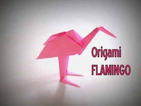 Origami - How to make a FLAMINGO
