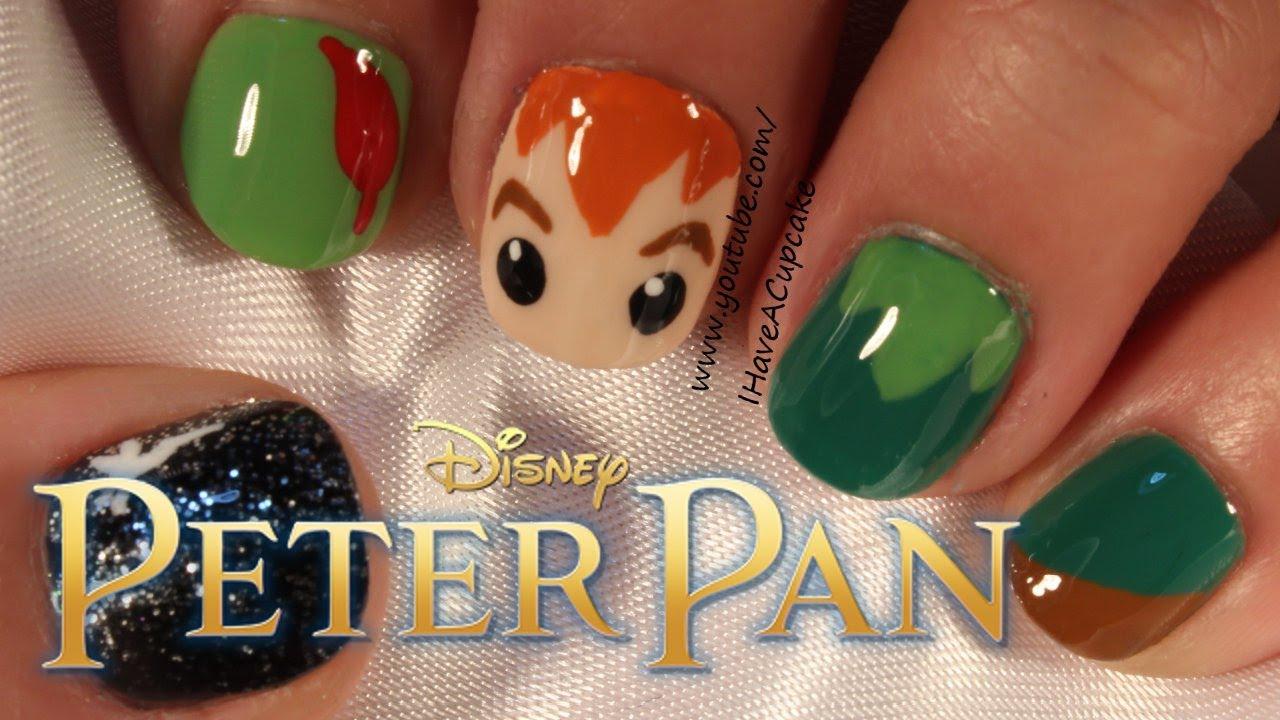 Simple Peter Pan Nail Art Youtube