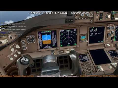 [FSX] PMDG 777-300ER | Abu Dhabi (OMAA) to Mumbai (VABB) Part 3