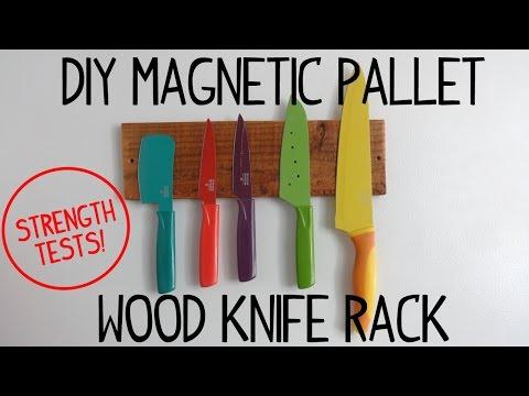 Pallet Wood Knife Rack - Magnet Strength Tests