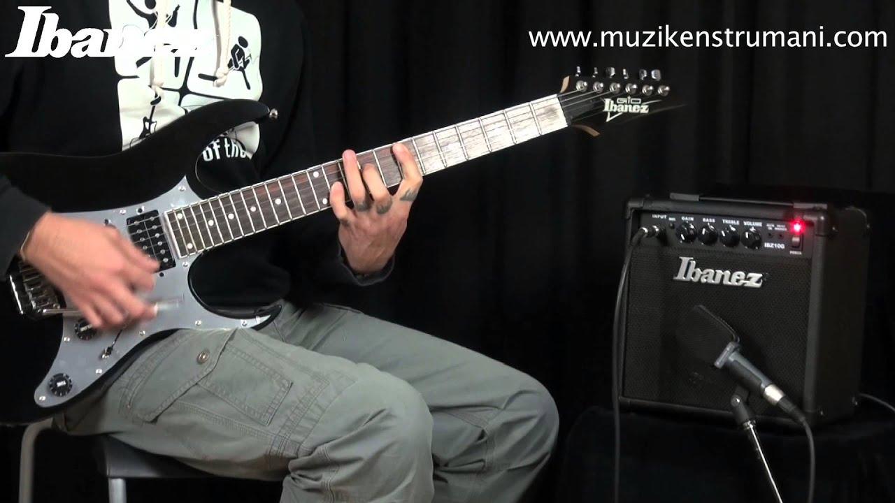 ibanez grg150 gitar ve ibanez ibz10 g amfi youtube