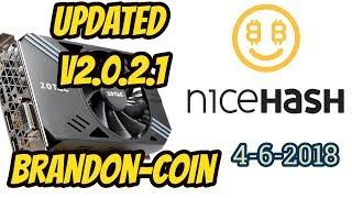 Nicehash updated V2.0.2.1 New Algo