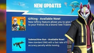 GIFTING SYSTEM OFFICIAL RELEASE DATE! (Fortnite Season 5)