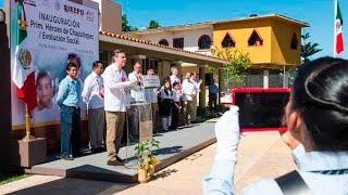 Inauguración de la Escuela Primaria Héroes de Chapultepec / Evolución Social - Pluma Hidalgo, Oaxaca