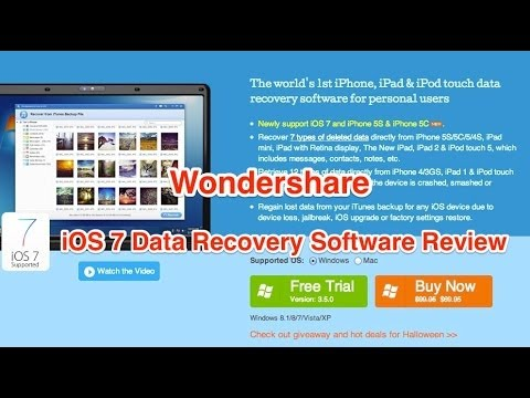 Wondershare iPhone Data Recovery Review  YouTube